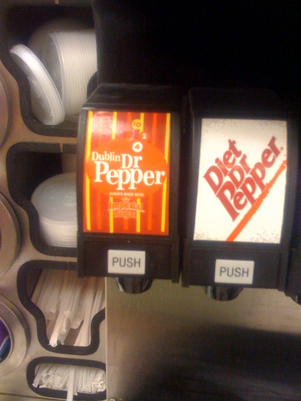 Dublin Dr Pepper on tap in Hico, TX