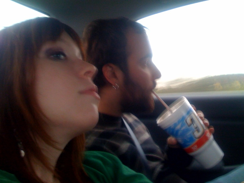Sipping DP on the way home