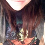ready to go with my MJ zombie shirt on