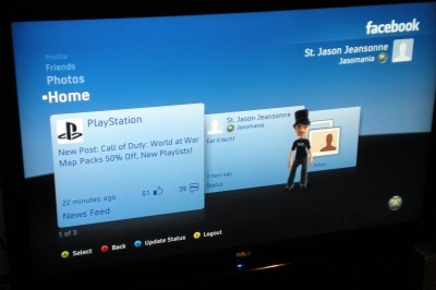 xbox live facebook dashboard