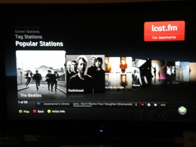 xbox live feature preview last.fm popular stations