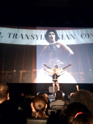 Frank N. Furter's big entrance!