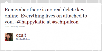 there is no delete button online! from happy katie