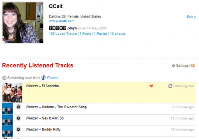 Qcait - 20K Tracks on Last FM!