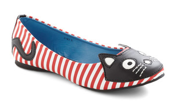 Cat Flats from Modcloth - See more Cat Lady Fashion at Qcait.com