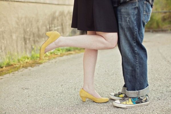 DC Batman Converse Shoes - Engagement Photos