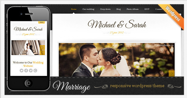 Marriage WordPress theme from Themeforest