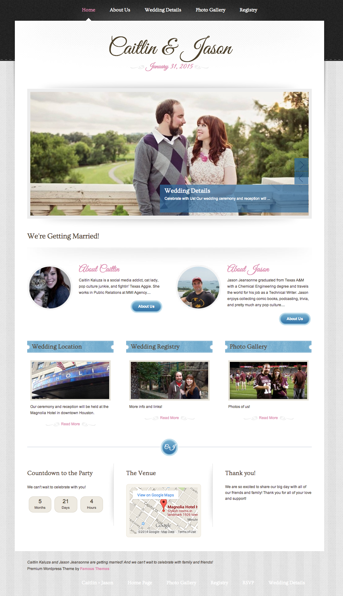 Wedding Website Is Live Wordpress Wedding Theme And Rsvp Plugin