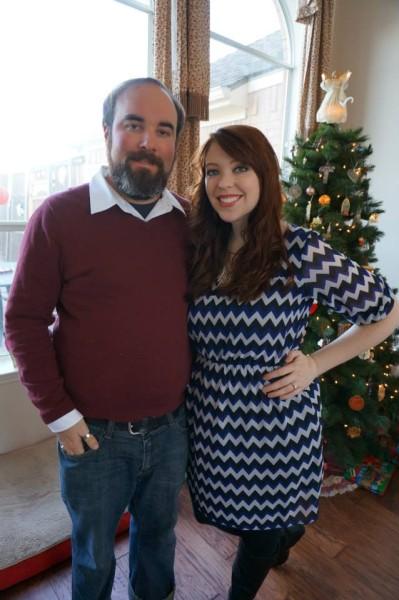 Caitlin and Jason at Christmas