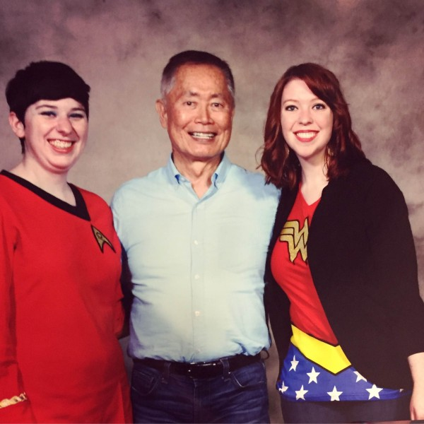 Meeting George Takei at Comicpalooza 2015
