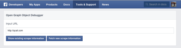 Facebook Debugger Link Preview