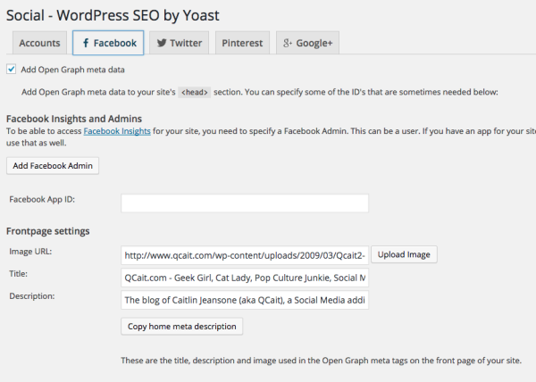 Wordpress SEO by Yoast Open Graph Facebook Troubleshooting