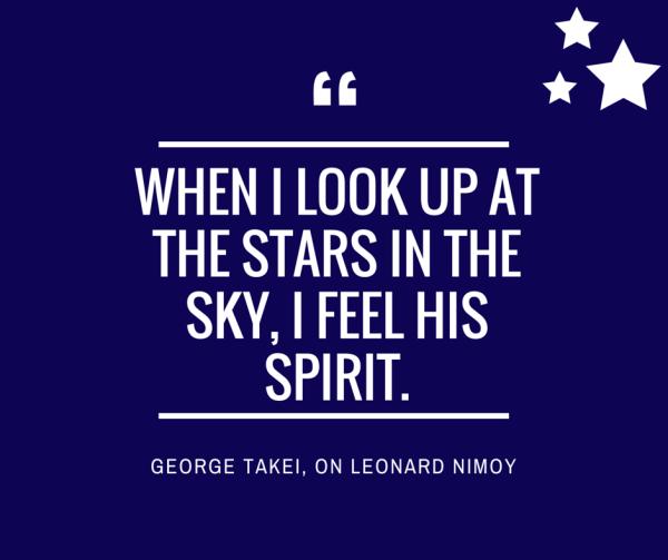 George Takei on Leonard Nimoy